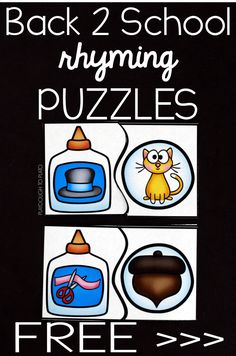 Activity for ages 4 to 5. Rhyming is an important skill for new readers to master and these playful back to school puzzles make it so fun to practice. Grab your free set below and then hop over and check out 25 more back to school ideas we love! Getting Ready To prep, I printed …