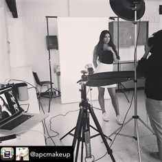 Repost from @apcmakeup - #bts of me shooting my students' makeup at @mohawk.college. They are getting really good! @apcmakeup is an amazing teacher! #coteachers #funnerinpairs #twototango #photography #beauty #fashionshoot #portfoliodevelopment #makeup #artistry #certificate #student #photoshoots #great #work makeup by @ivanakoren_  http://ift.tt/1PNAqbH