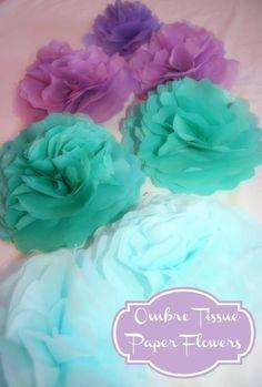 DIY Ombre : DIY Tissue Paper Flowers {ombre}