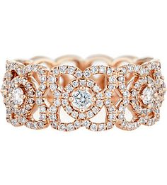 DE BEERS Enchanted lotus rose-gold and diamond ring
