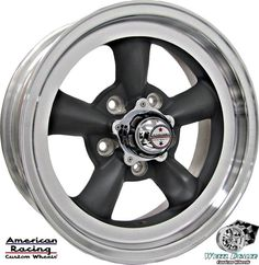 """(4) 15x6"""" GRAY AMERICAN RACING TORQ THRUST D WHEELS RIMS FOR FORD MUSTANG 1968"""