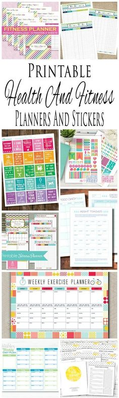 Health And Fitness Planners And Printable Planner Stickers #fitnessleggings,