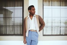"Leon Bridges is a Texas-born R&B/soul singer. His music will give you the chills, like Sam Cooke's or Otis Redding's soothing sound; and the music video for 'River', a song off Bridges' debut album 'Coming Home', echoes the heartbeat of yesterday's soul music. ""I'm not saying I can hold a"