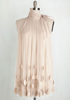 All Neutral Dress. This lovely, neutral-toned dress by Ryu will have everyone at your garden tea party talking. #cream #prom #bride #modcloth