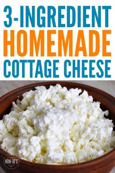 Homemade Cottage Cheese Recipe Homemade Cottage Cheese Recipe – Just 3 ingredients and 10 minutes to make Homemade Cottage Cheese, Cottage Cheese Recipes, Homemade Cheese, Homemade Recipe, Milk Recipes, Real Food Recipes, Cooking Recipes, Cooking Tips, Kitchen
