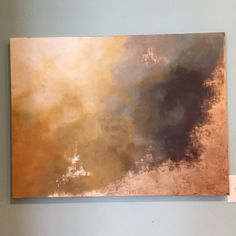Large abstract painting from the Aerial Storm series, dipped in gold leaf for an elegant vintage feel. The original painting has sold as a
