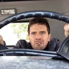 Ty is a little nervous driving his truck today! His expression is hilarious. :) ~ Season 8 spoilers