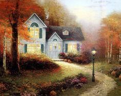 autumn house Thomas Kinkade