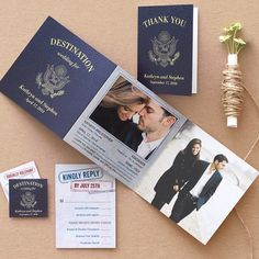 Will you be asking your guests to stamp their passports for your big day? #destination #wedding #stationery