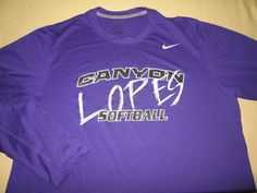 TEAM ISSUE Grand Canyon Antelopes Softball  NCAA LS T  Shirt - XL NIKE DRI FIT #Nike #GrandCanyonAntelopes