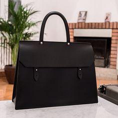 Briefcase, handbag, shoulderbag. Made of vegetable tanned leather from Tuscany. Handmade, handstitched, handcrafted