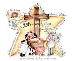 From the Heart Art Scripture Art, Bible Art, Bible Scriptures, Scripture Doodle, Scripture Images, Bibel Journal, Christmas Quotes, Christmas Ideas, Christmas Scripture