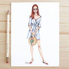 Style of Brush by Gizem Kazancigil #fashionillustration gizem kazancigil @gizemkazancigil