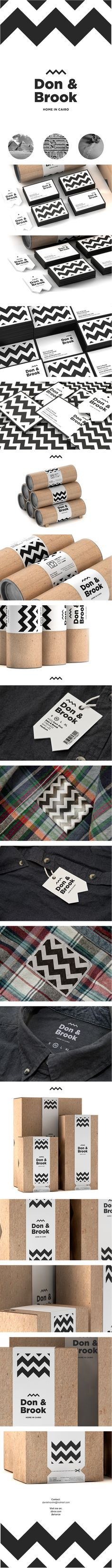 Don & Brook is a Cairo based menswear and lifestyle brand. Love this #identity #packaging #branding PD