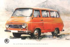#Škoda 1203 Cool Vans, Busse, Car Makes, Van Life, Old Cars, Vintage Ads, Cars And Motorcycles, Techno, Automobile