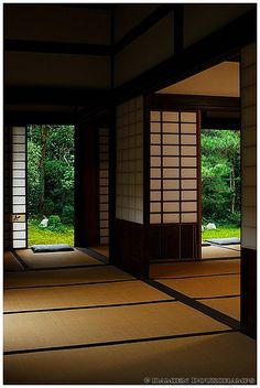 Interior of Funda-in temple (芬陀院) with view on zen garden, Kyoto by Damien Douxchamps on Flickr.