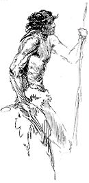 Roy G. Krenkel - sketch with spear