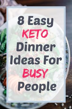 8 Super Easy Keto Dinner Ideas For Busy People - Crazy Mompreneur Low Carb Dinner Recipes, Low Carb Desserts, Keto Dinner, Keto Recipes, Cream Recipes, Wheat Free Recipes, Keto Friendly Desserts, Keto Diet For Beginners, Keto Meal Plan