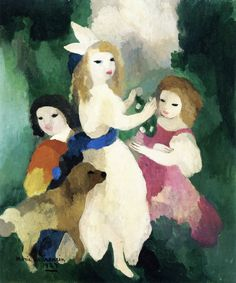 Marie Laurencin (France 1885-1956) Three Women and a Dog (1929) oil on canvas 55 x 46 cm