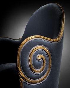 Paul Iribe Nautile Armchair, early Art Deco, Estimate: 100 000 to Art Deco Furniture, Funky Furniture, Unique Furniture, Vintage Furniture, Furniture Design, Office Furniture, Art Deco Chair, King Furniture, House Furniture