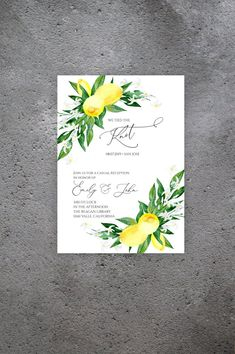 Lemon Elopement Invitation Template, Instant Download, Citrus Printable Reception Party, Tied the Knot, Lemon Blossom L200 Blush Flowers, White Wedding Flowers, Yellow Wedding, Wedding Menu Cards, Wedding Signs, Sicily Wedding, Seating Chart Wedding Template, Amalfi Coast Wedding, Lemon Blossoms