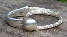 Silver Viking Knit Cuff Bracelet by WireGlass on Etsy https://www.etsy.com/listing/202883608/silver-viking-knit-cuff-bracelet