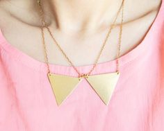 Triangle Point Peter Pan Collar Necklace