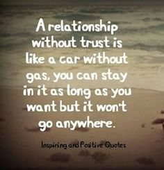 Trust - relationship car analogy.