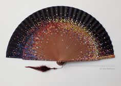 Items similar to MADE TO ORDER hand painted spanish fan. Custom hand fan for a special occasion. Hand Held Fan, Hand Fans, Enchanted Jewelry, Chinese Fans, Diy Fan, Classic Paintings, Girl Swag, Fabric Dolls, Pastel Goth