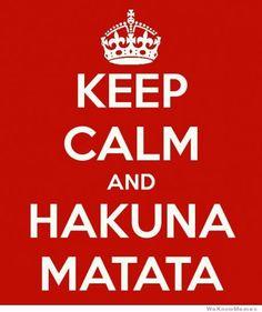 Ahh Hakuna Matata  What a wonderful phrase. It means no worries for the rest of yo dayss Hakuna Matata! Keep Calm!