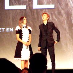 Why does Kaya look like a little maid? XD. TBS looking hot as usual <3