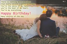 Greet your beloved husband with romantic birthday wishes on his special day. Checkout the exclusive collection of birthday wishes for husband Hubby Birthday Quotes, Birthday Wish For Husband, Happy Birthday Love, Late Birthday Wishes, Romantic Birthday Wishes, Youre Everything To Me, Wishes For Husband, Batik Couple, Couple Quotes