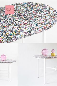recycled plastic table top launching this year for SWEDISH NINJA on the NEW Eye Candy sofa table. Easily add a pop of colour into your interior with this beautiful piece. Color Pop, Colour, Plastic Tables, Candy Table, Baskets On Wall, Sustainable Design, Elle Decor, Ninja, Eye Candy
