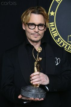 The 11th annual Makeup Artists and Hairstylists Awards » Johnny receiving the Distinguished Artisan Award