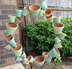 By the Way: Clay Pot Wreath + Succulents = Smile! Succulent Soil, Succulent Wreath, Cacti And Succulents, Clay Pot Projects, Clay Pot Crafts, Shell Crafts, Dollar Tree Flowers, Easy Fall Wreaths, Wire Wreath Forms