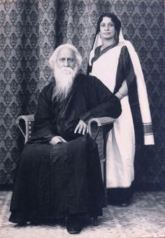 Rabindranath Tagore with Daughter-in-Law Pratima Devi Rare Pictures, Historical Pictures, Rare Photos, Vintage Photographs, Vintage Photos, Rabindranath Tagore, Frog Illustration, Eastern Philosophy, History Of India