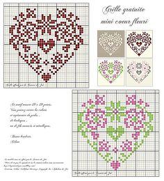 Brilliant Cross Stitch Embroidery Tips Ideas. Mesmerizing Cross Stitch Embroidery Tips Ideas. Embroidery Hearts, Cross Stitch Embroidery, Embroidery Patterns, Wedding Cross Stitch Patterns, Cross Stitch Designs, Cross Stitch Heart, Cross Stitch Flowers, Cross Stitch Freebies, Knitting Charts