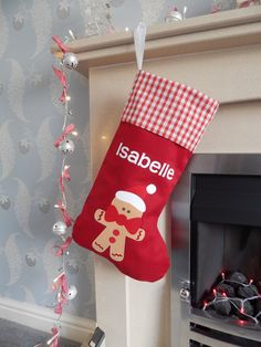 Personalized Handmade Christmas Stocking by JudiliciousStudio, £19.95