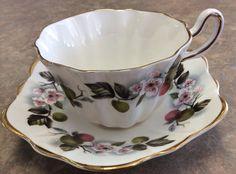 Vintage Royal Tara Fine Bone China Berry Vine Tea Cup Saucer | eBay