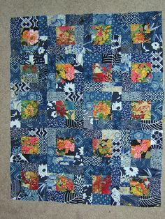 66 Ideas For Patchwork Patterns Squares Sewing Scrap Batik Quilts, Blue Quilts, Scrappy Quilts, Easy Quilts, Floral Quilts, Rag Quilt, Japanese Quilt Patterns, Scrap Quilt Patterns, Japanese Patchwork