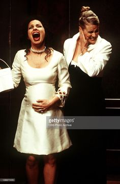 The screams are more than C.C. (Lauren Lane) can bear when Fran (Fran Drescher) finally goes into labor while the two are stuck in an elevator, on the special hour-long final episode of THE NANNY, Wednesday, May 19 (8:00-9:00 PM, ET/PT) on the CBS Television Network.