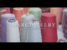 In The Studio With Margo Selby: A Collaboration Textile Industry, Creative Video, Wool Scarf, Natural Looks, West Elm, How Beautiful, Bold Colors, New Work, Mother Nature