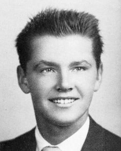 Jack Nicholson from school/college yearbooks in 1954)