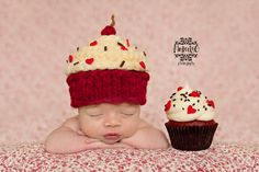 Newborn - Cupcake Beanie, Sweet Love Creates