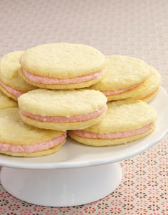 Strawberry-Lemon Sandwich Cookies are the perfect sweet and tart combo! A wonderfully delicious summer-y treat from bakeorbreak.com.
