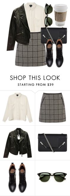 """""""Untitled #5230"""" by laurenmboot ❤ liked on Polyvore featuring Monki, Oasis, Zara, Yves Saint Laurent, H&M, Ray-Ban, women's clothing, women, female and woman"""