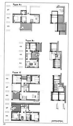 Habitat 67 Site Plan Plans of units aerial view