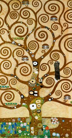 Gustav Klimt – Tree of Life Detail – Lebensbaum A symbolic painting from Gustav Klimt's golden phase completed in Buy Gustav Klimt Tree Of Life prints at Fine Art America Gustav Klimt, Art Klimt, Tree Of Life Art, Tree Art, Art Encadrée, Vienna Secession, Art Lessons, Framed Art, Art Nouveau
