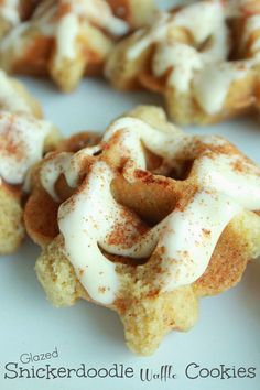 Life's Simple Measures: Glazed Snickerdoodle Waffle Cookies