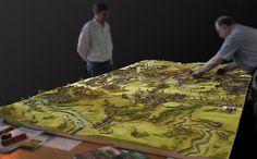Amazing contoured board. Wargaming Table, Wargaming Terrain, Warhammer Terrain, Game Terrain, Geek Games, Military Diorama, Warhammer 40000, Tabletop Games, Fairy Houses